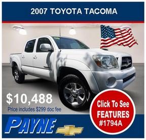 Payne 2007 Toyota Tacoma 1794A 288