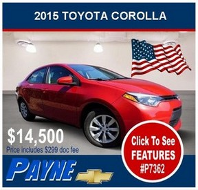 Payne 2015 Toyota corolla P7362 288