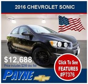 Payne 2016 Chev Sonic P7376 288