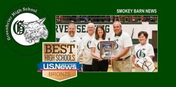 Greenbrier High: Named Top Performing US School