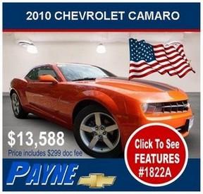 Payne 2010 Camaro 1822A 288