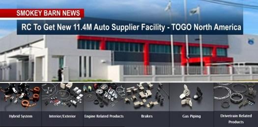 RC To Get New 11.4M Auto Supplier Facility -TOGO North America