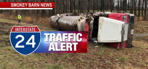 Milk Tanker Rollover Could Have I-24 East At MM21 Congested Til 9PM