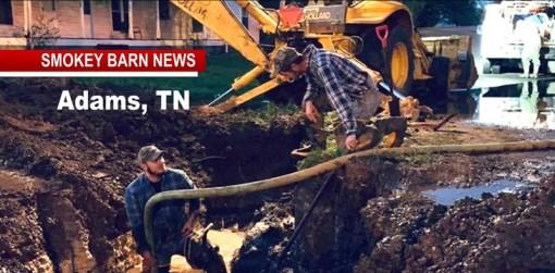 "Adams Water Main Break UPDATE ""A Team Effort"""