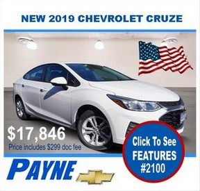 Payne 2019 Chevy Cruze 2100 flag 288