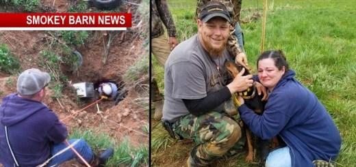 Beloved Hound Dog Stuck In Sink Hole, Rescued After 19 Hours