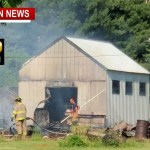 Storage Bldg. Fire Sparks Race To Save Orlinda Home