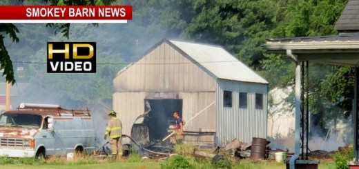 Storage Bldg. Fire Sparks Race To Save Orlinda Home