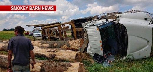 Logging Truck Overturns Near Cross Plains Injures One