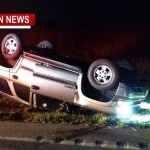 Hwy 49 Slow Following Rollover Crash