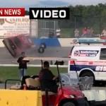 Driver Survives Fiery Rollover Crash At Veteran's Motorplex