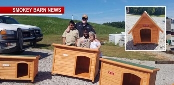 Boy Scout Builds/Donates Dog Houses To RC Animal Control