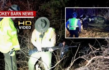 Christmas Eve Rollover Crash Triggers Brief Manhunt After Speeding Driver Flees