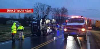 Tractor-Trailer Overturns At The Hwy 25/431 North Intersection