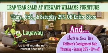 Two Big Sales In Springfield: Furniture & Children's Clothing