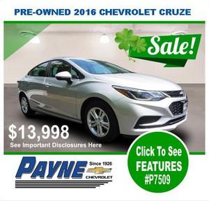 Payne 2016 chev cruze P7509