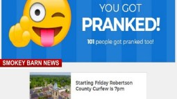 Prank Site Claims 7pm Curfew For Robertson County