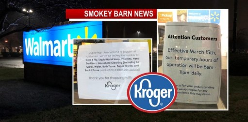 SPFD Walmart Cuts Hours/Kroger Limits Some Items