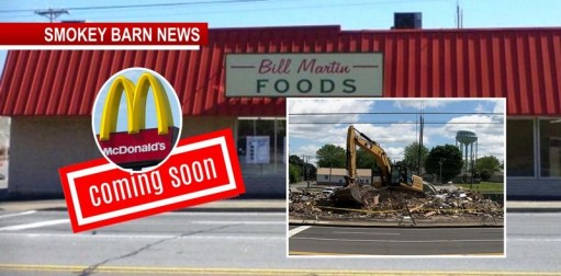 Greenbrier's Bill Martin's Grocery Store Comes Down As The Corner Is Remade