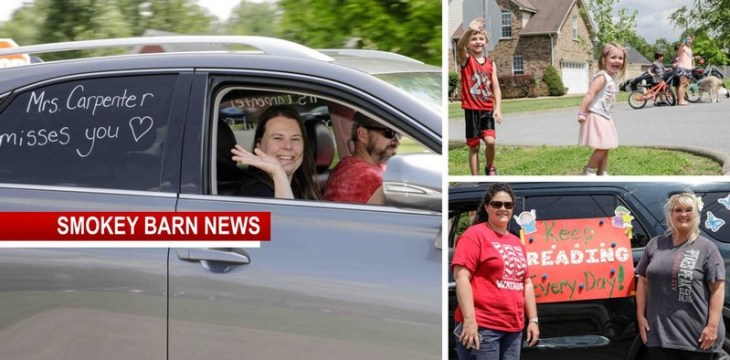 "Watauga Elementary Staged ""Teacher's Parade"" For Students"