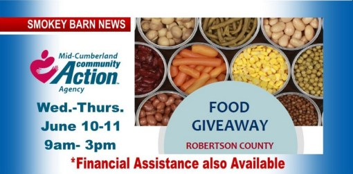 Food Give-Away, Financial Assistance Wed. & Thurs. (Volunteers Needed)