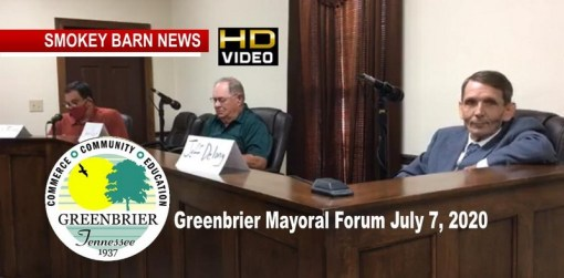 VIDEO: Greenbrier Mayoral Candidate Forum 2020