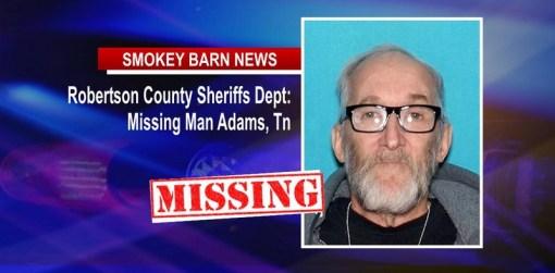 MISSING ADULT ALERT (Adams Tennessee)