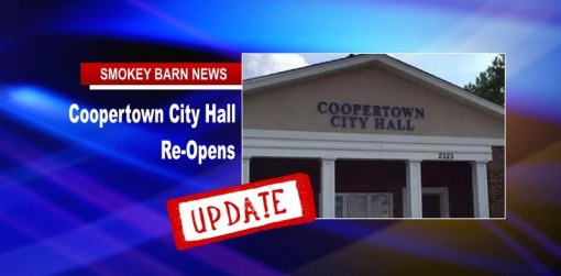 Update: Coopertown City Hall Re-Opens