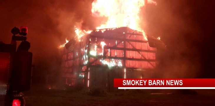 Orlinda Tobacco Barn Lost To Fire