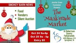 2020 'Mask'erade Market-Food, Arts & Crafts, A 2 Day Affair Oct. 24-25 (Vendors Welcome)