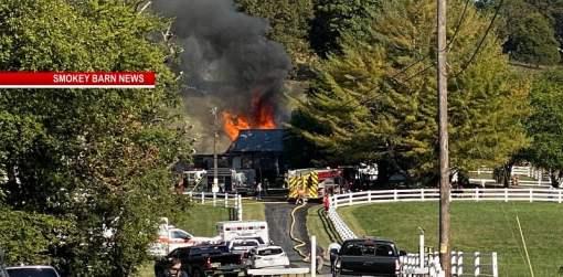 Massive Fire Engulfs Hendersonville Home
