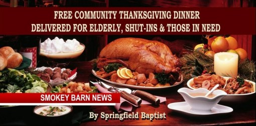 Free Community Thanksgiving Meal For Those In Need By Springfield Baptist Church