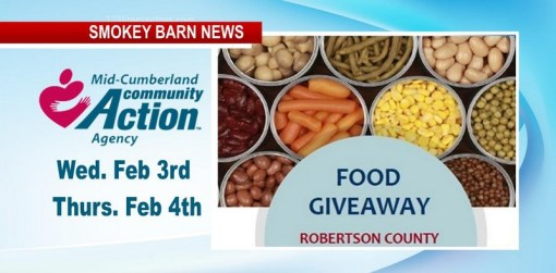 2 Day FREE Food Giveaway Event By Mid Cumberland Community Action (ROBERTSON COUNTY)