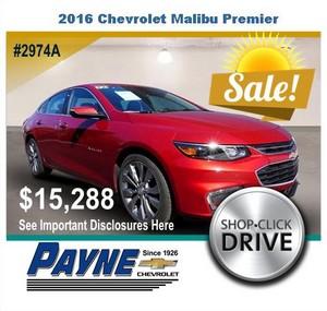 Payne 2016 Chevrolet malibu 2974A