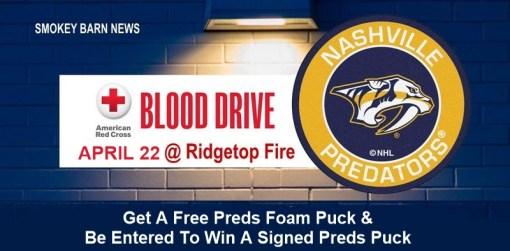 Blood Drive (Nashville Predators) At Ridgetop Vol. Fire Dept