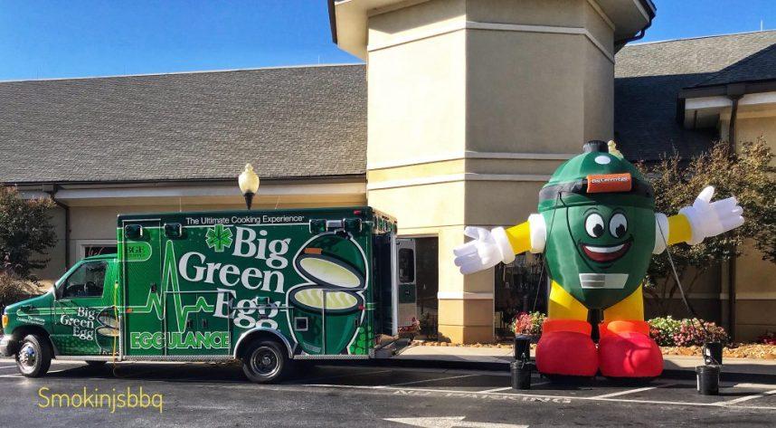 Eggmbulance-and-blow-up-egg-mascot-outside-Marriott-HoteL