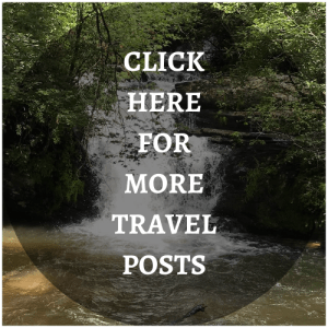 WATERFALL BACKGROUND with text click here for more travel posts