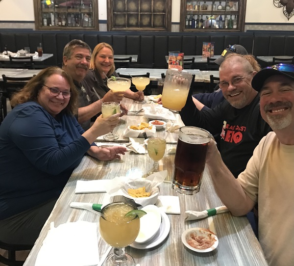 el real mexican restaurant with friends
