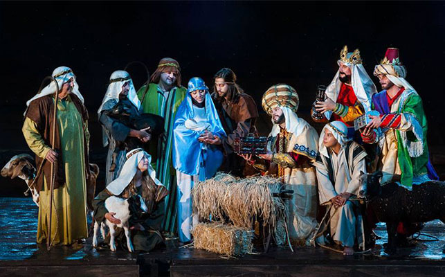 Smoky Mountain Christmas Nativity Scene, Christmas at Dolly Parton's Pirates Voyage, Christmas at Dolly Parton's Stampede, Christmas at the Smoky Mountain Opry, Christmas Show at Country Tonite, Comedy Barn Christmas Show, Hatfield & McCoy Christmas Disaster Dinner Show, Pigeon Forge Christmas shows