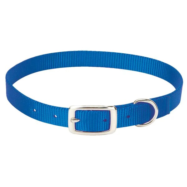 357090BL, 357091BL, 357092BL Nylon Goat Collars, Blue