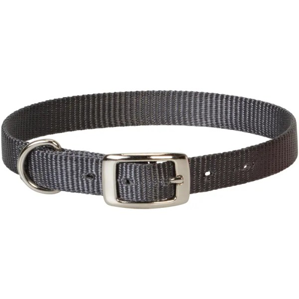 nylon goat collar gray
