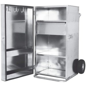 695012 4' Single Door Showbox Galvanized