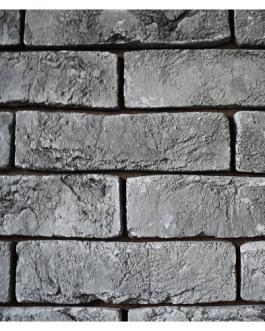 Декоративный камень.Гипсовая плитка, имитация кирпича,»Тауэр» А 23 (Серый)(упаковка 0,5м 2)