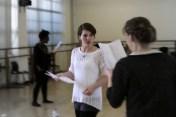 Emma rehearsing for Titus