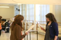 Rehearsals for Titus Andronicus: an all-female production
