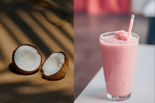 berry coconut smoothie