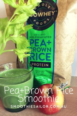 Pea Brown Rice Veggie Smoothie