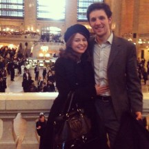 Also in March, Devin and I met up at Grand Central to attend a fancy function sponsored by our alma mater. Thanks, college!