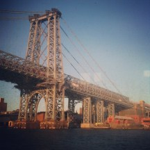 I loved Spring in New York. Tasha and I took the East River Ferry and got to see the Williamsburg Bridge up close. To me, she looks like a cousin of the Eiffel Tower.