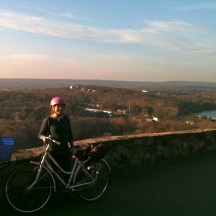 Devin and I biked up a mountain in Connecticut.